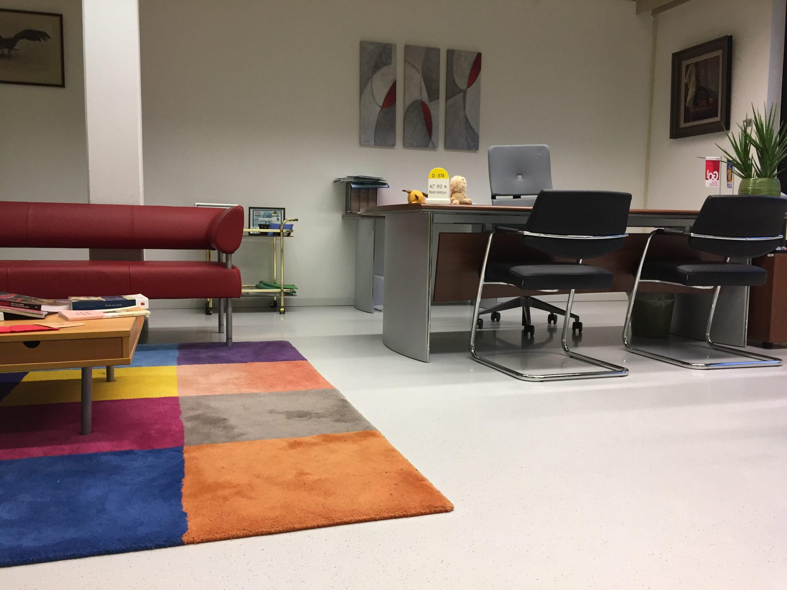 Kantoor vriendelijke gietvloer, gietvloer voor een kantoor