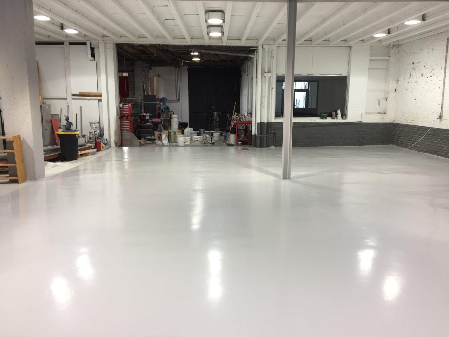Epoxy coating garage