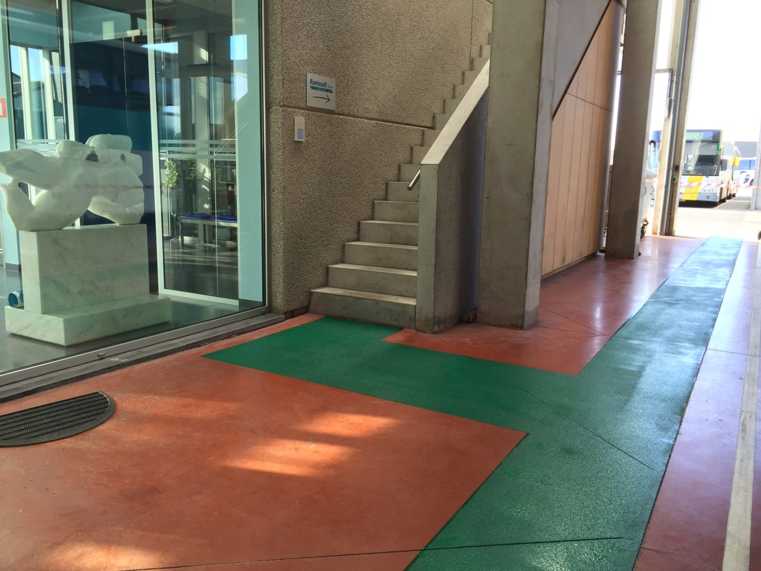 Epoxy coating, groene looppad