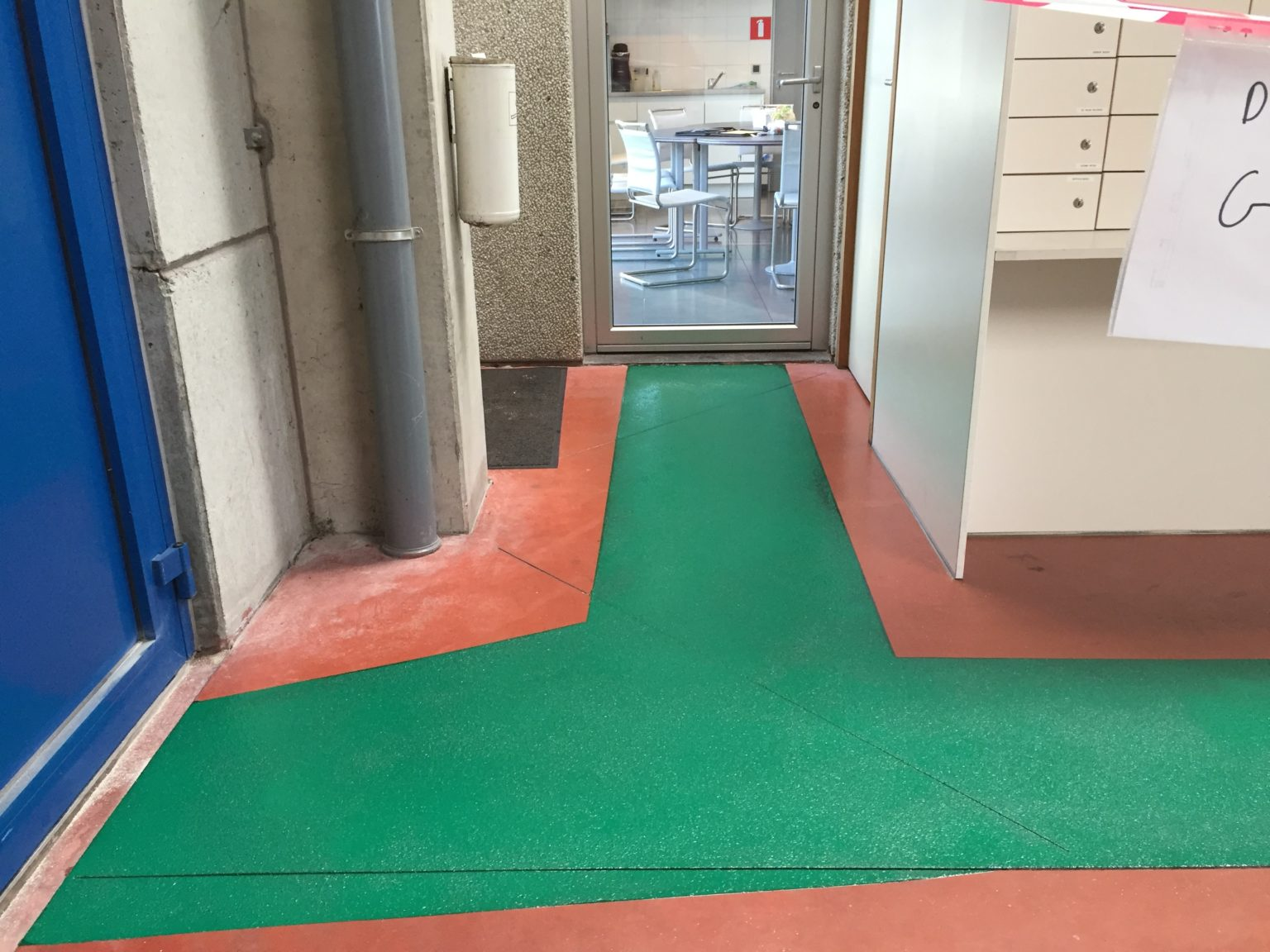 Epoxy coating, groene looppad, industrie coating