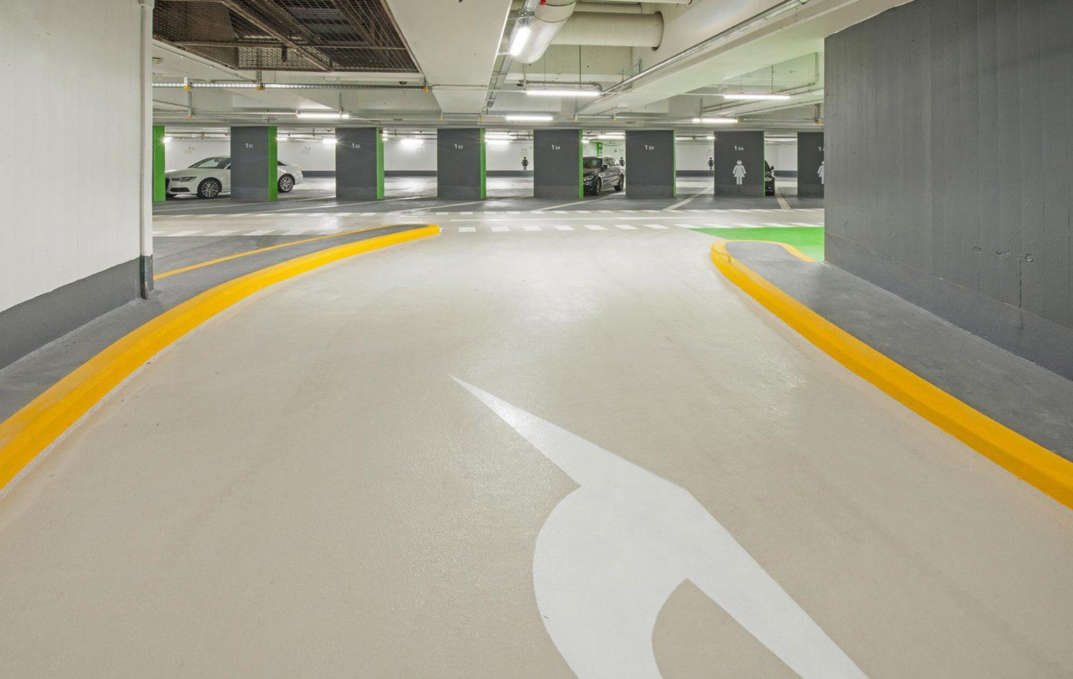 Epoxy coating parkinginrit