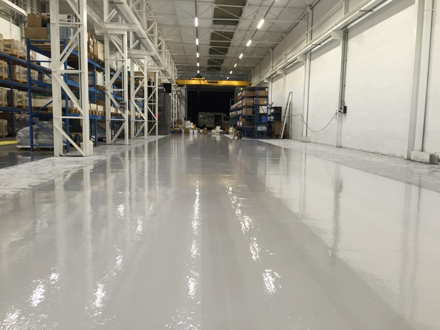 Grijze epoxy coating